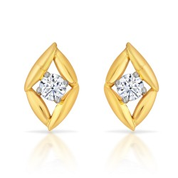 Delicate Solitaire Earrings
